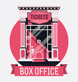 Retro Movie Box Office vector image vector image