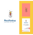 rocket creative logo and business card vertical vector image vector image