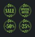 sale label price tag banner badge in flora design vector image vector image