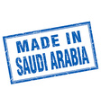 Saudi Arabia blue square grunge made in stamp vector image vector image