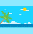 sea and sky background summertropical scene vector image vector image