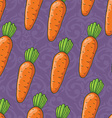 seamless cute shiny carrots pattern vector image vector image