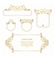 Set decorative frame vector image