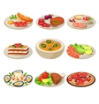 Set of Food Icons European lunch vector image vector image