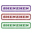 shenzhen watermark stamp vector image vector image