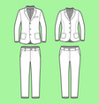 simple outline drawing of a blazers and pants vector image vector image