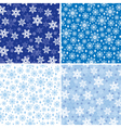 snow pattern set vector image vector image