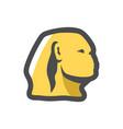 sphinx egyptian statue icon cartoon vector image