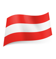 State flag of Austria vector image vector image