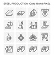 steel product icon vector image vector image