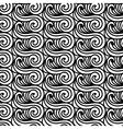 Stylised Maori Koru Seamless Pattern Abstract
