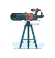 telescope on support to observe stars astronomy vector image vector image