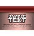 template red stripe text vector image vector image