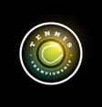 tennis circular logo modern professional vector image vector image