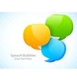 Three speech bubbles vector image vector image