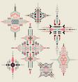 tribal ethnic ornament aztec decor vector image vector image