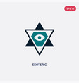 two color esoteric icon from magic concept vector image vector image