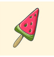 watermelon popsicle ice cream pop vector image vector image