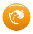 wave sea icon orange vector image vector image