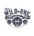 wild one vector image vector image