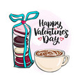with coffee and lettering vector image vector image