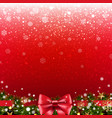 xmas poster with border vector image vector image