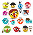 Funky People Icons Set vector image