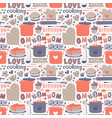 cooking seamless pattern retro style with kitchen vector image