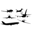 Aircraft silhouettes vector | Price: 1 Credit (USD $1)