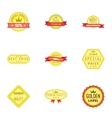 Best quality label icons set cartoon style vector image vector image