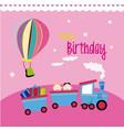 birthday design over pink background vector image