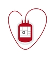Blood Bag flat icon vector image vector image