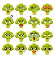broccoli emoji emoticon expression vector image