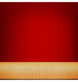 Brown wood floor with chinese style red background vector image vector image