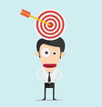 Businessman and target concept vector image vector image