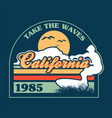 california surfing print vector image