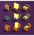 Chest Set for Game Resource vector image vector image