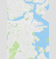 city map boston color detailed plan vector image