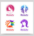collection beauty women logo design graphic