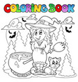 coloring book halloween character 1 vector image vector image