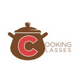cooking classes sauce pan icon vector image vector image