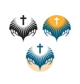 Crucifix symbol Crucifixion of Jesus Christ icons vector image vector image