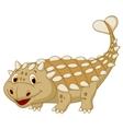 Cute dinosaur ankylosaurus cartoon vector image vector image
