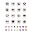 digital camera performance vector image vector image