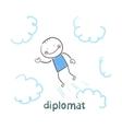 diplomat flies through the sky vector image vector image