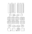 Dwelling Buildings vector image