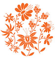 Floral fol pattern in circle vector image vector image