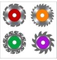 Four Types of Circular Saw Blade vector image