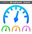 gauge symbol icon design vector image vector image