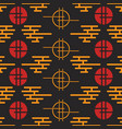 Geometric national seamless asian pattern vector image
